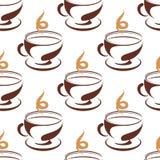 Parującej filiżanki kawy bezszwowy wzór Obrazy Royalty Free