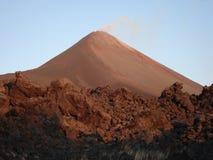 Parujący wulkan Obraz Royalty Free