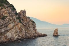 Parus Sail rock near Gaspra, Yalta, Crimea stock photography