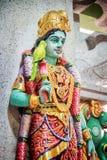 Parvati雕象在Sri Veeramakaliamman寺庙,新加坡的 免版税图库摄影