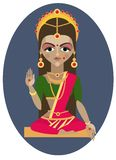 Parvati deity illustration. Stock Images