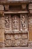 Parvati ` s苦行,拉妮ki vav内在墙壁,在Saraswati河河岸的一复杂地被修建的stepwell  Patan, Gujara 免版税图库摄影