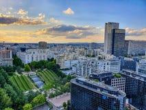 Paryż, Francja, Czerwiec 2019: Los Angeles obrona przy zmierzchem obrazy stock