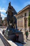 PARYŻ FRANCJA, CZERWIEC, - 08, 2014: Statua słoń blisko muzeum Orsay w Paryż Obrazy Royalty Free