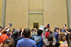 Paryż Francja, Maj, - 13, 2015: Goście biorą fotografie Leonardo DaVinci Obrazy Stock
