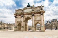 Paryż, Francja, Marzec 31 2017: Łuku De Triomphe Du Carrousel jest triumfalnym łukiem w Paryż, lokalizować w miejscu du Obrazy Royalty Free