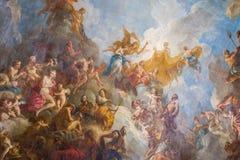 Paryż, Francja, Marzec 28 2017: Podsufitowy obraz w Hercules pokoju Królewska górska chata Versailles przy pałac Obraz Royalty Free