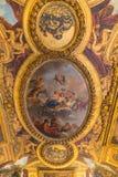 Paryż, Francja, Marzec 28 2017: Podsufitowy obraz w Hercules pokoju Królewska górska chata Versailles przy pałac Zdjęcie Royalty Free