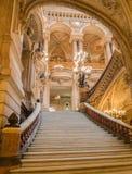 Paryż, Francja, Marzec 31 2017: Wewnętrzny widok opera obywatel de Paryski Garnier, Francja Ja budował od 1861 obrazy royalty free