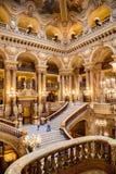 Paryż, Francja, Marzec 31 2017: Wewnętrzny widok opera obywatel de Paryski Garnier, Francja Ja budował od 1861 zdjęcia stock