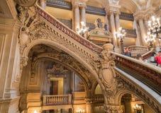 Paryż, Francja, Marzec 31 2017: Wewnętrzny widok opera obywatel de Paryski Garnier, Francja Ja budował od 1861 fotografia royalty free