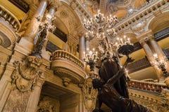 Paryż, Francja, Marzec 31 2017: Wewnętrzny widok opera obywatel de Paryski Garnier, Francja Ja budował od 1861 obrazy stock