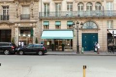 Paryż, Francja 02 Tiffany Co Czerwiec 2018 sklep na Maju 5, 2015 w Hong Kong Biżuterii firma zakładająca w 1837 jest wśród najwię Obrazy Stock