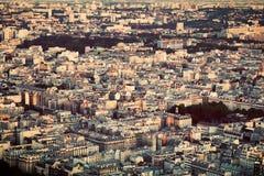Paryż, Francja widok od wierzchołka na mieszkaniowym okręgu Fotografia Royalty Free