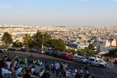 Paryż, Francja, Wrzesień 04, 2012 Turyści przy Sacre-Coeur Zdjęcia Stock