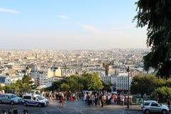 Paryż, Francja, Wrzesień 04, 2012 Turyści przy Sacre-Coeur Obrazy Stock