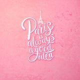 Paryż jest Zawsze Dobrym pomysłu pojęciem na menchiach royalty ilustracja