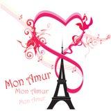 Paryż karta jako symbol miłość Fotografia Royalty Free