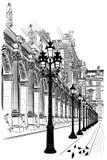 Paryż: Klasyczna architektura royalty ilustracja