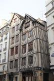 Paryż, listopad 27,2016: starzy średniowieczni timberwork domy w Paryż Obraz Royalty Free