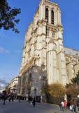 Paryż, Notre Damae katedra od Pont au kopii - obrazy royalty free