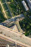 Paryż panoramiczny widok Fotografia Royalty Free