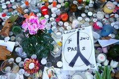 Paryż w Mourning/Bataclan zabójstwa Zdjęcia Stock