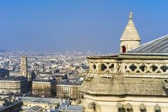 Paryż, widok od notre dame de paris zdjęcia stock