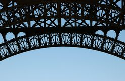Paryż, wzór wieża eifla przeciw niebu Fotografia Stock