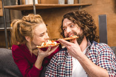 pary łasowania pizza obraz royalty free