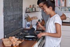 Pary śniadania jajka zdjęcia stock