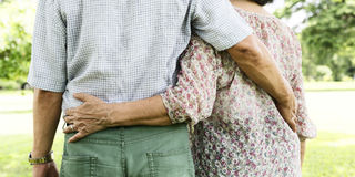 Pary żony męża datowanie relaksu miłości pojęcie obraz royalty free
