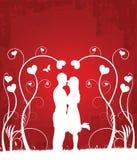 pary (1) całowanie ilustracja wektor