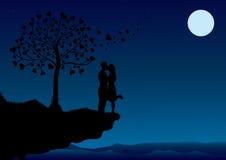 pary całowanie royalty ilustracja