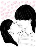 pary całowanie Obrazy Royalty Free
