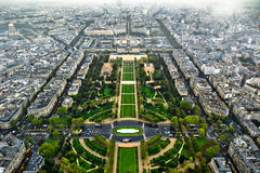 Paryż centrum widok z lotu ptaka Zdjęcia Royalty Free