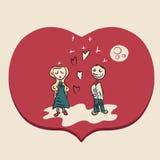 Pary czerwona romantyczna ilustracja Zdjęcia Royalty Free