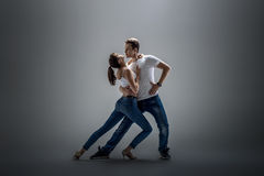 Pary dancingowy ogólnospołeczny danse Zdjęcie Stock