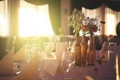 pary dekoraci lal szklany przestawny stołowy ślub Obraz Stock