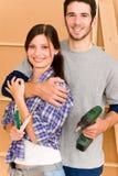 pary domowego ulepszenia naprawa wytłaczać wzory potomstwa Obrazy Royalty Free