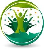 Pary drzewa logo ilustracja wektor