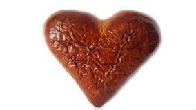 pary dzień ilustracyjny kochający valentine wektor Świeży piec brown biskwitowy serce Fotografia Stock