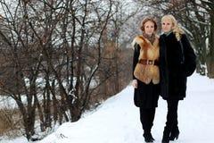 Pary dziewczyny lesbian ulica fotografia stock