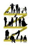 Pary ewolucja ilustracja wektor