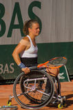 PARYŻ FRANCJA, CZERWIEC, - 10, 2017: Roland Garros kobiety kopii koło Zdjęcia Stock