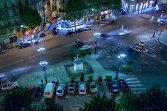 PARYŻ, FRANCJA, Kwiecień 26, 2016 San Agustin kwadrat przy nocą Fotografia Royalty Free