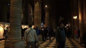 Pary? Francja, Kwiecie?, - 5, 2019: Wn?trze notre dame de paris Katedra Notre Damae jest jeden wierzcho?ek zbiory