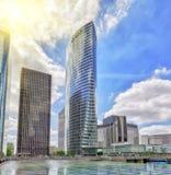PARYŻ FRANCJA, LIPIEC, - 06, 2016: Los Angeles obrona, biznes ćwiartka z Zdjęcia Stock