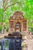 PARYŻ FRANCJA, LIPIEC, - 08, 2016: Medici fontanna blisko Luksemburg Zdjęcie Royalty Free