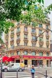 PARYŻ FRANCJA, LIPIEC, - 04, 2016: Miasto widoki Paryż, ulica, bui Obraz Stock